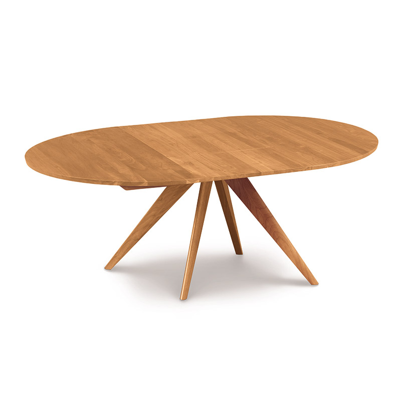 Copeland catalina round cherry extension dining table for Round extension dining table