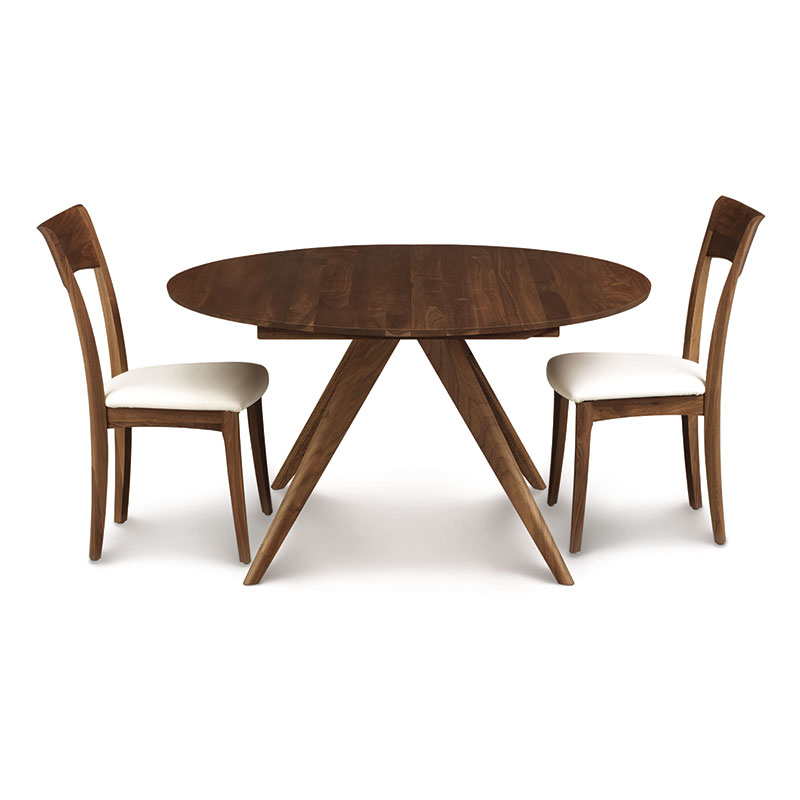 Copeland Catalina Walnut Round Extension Dining Table American Made