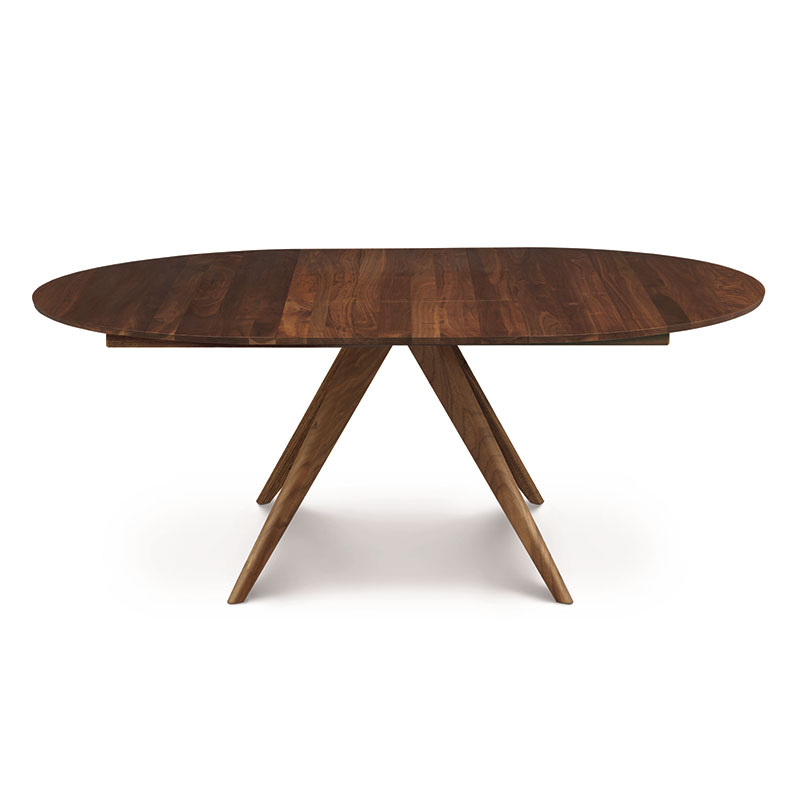 copeland catalina walnut round extension dining table american made. Black Bedroom Furniture Sets. Home Design Ideas