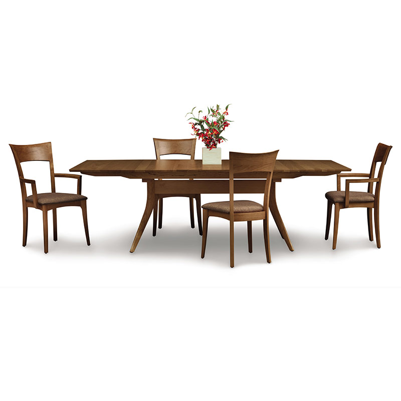 catalina walnut trestle extension dining table american made
