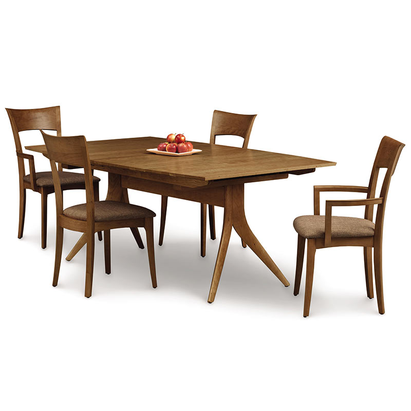 copeland catalina walnut trestle extension dining table american made. Black Bedroom Furniture Sets. Home Design Ideas