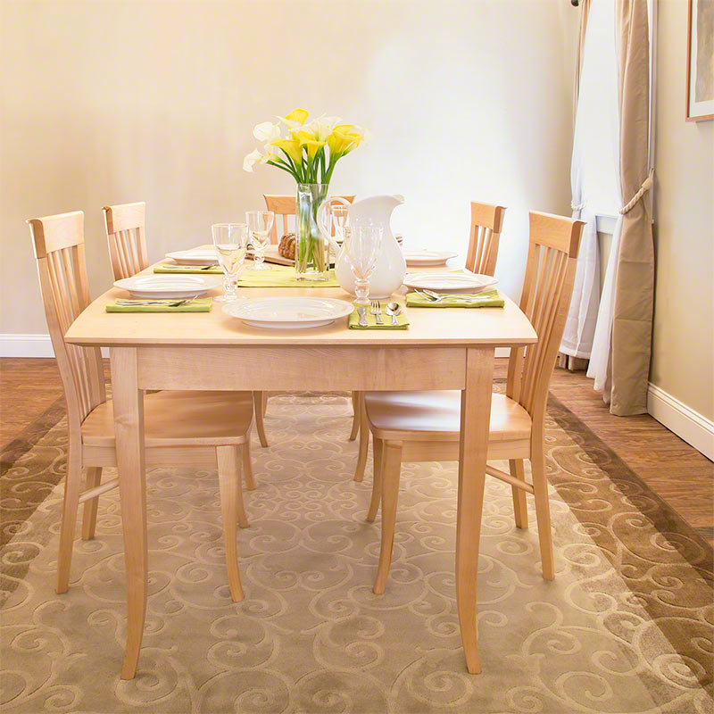 clearance | classic shaker ext. dining table | solid maple | made