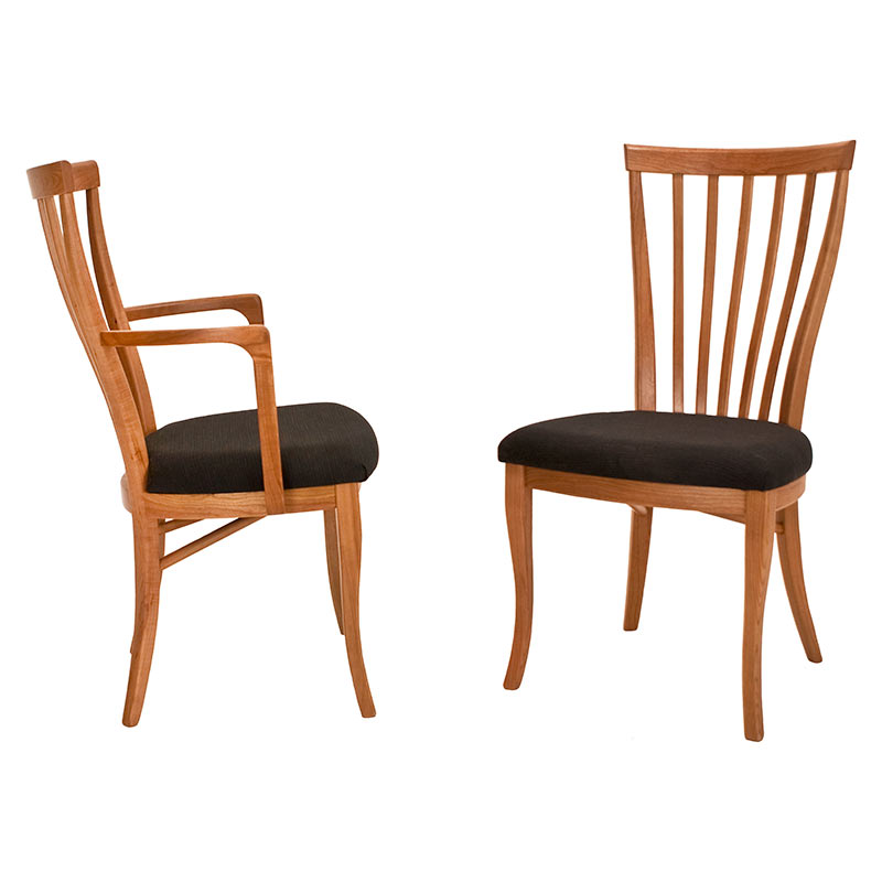 Classic Shaker Chair 1 Cherry And Maple Dining Chairs Made In Vermont