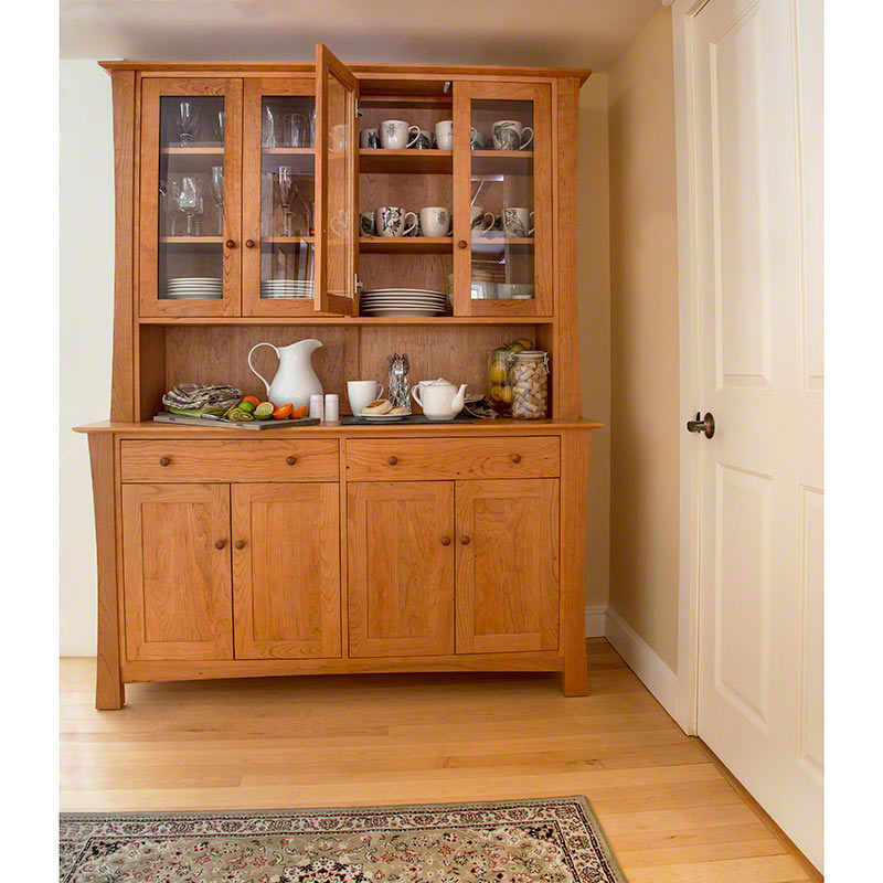 Stupendous Andrews Natural Cherry Buffet Hutch Download Free Architecture Designs Scobabritishbridgeorg
