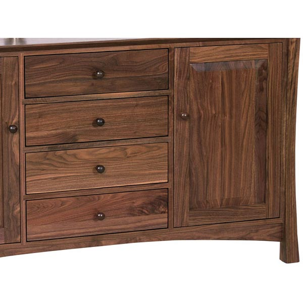Andrews Contemporary Asian Sideboard - Andrews Contemporary Asian Sideboard - Vermont Woods Studios