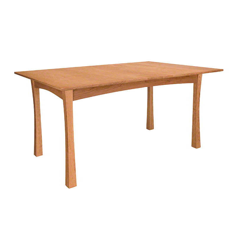 Contemporary Craftsman Dining Table shown in natural cherry