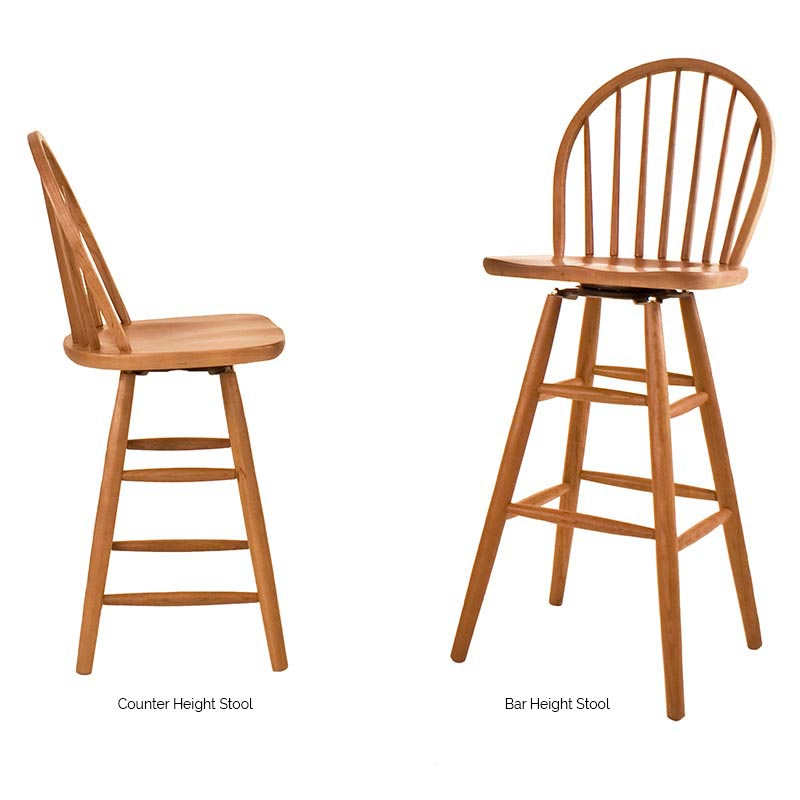 Contemporary Windsor Counter Bar Chair Vermont Woods Studios
