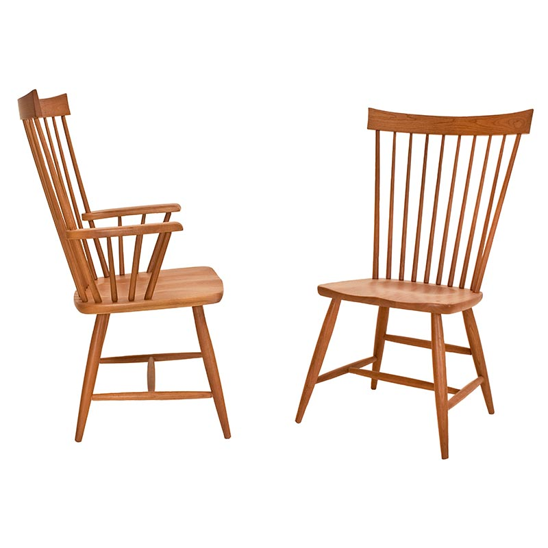 Country Windsor Dining Chair  Solid HardWood Handcrafted in Vermont