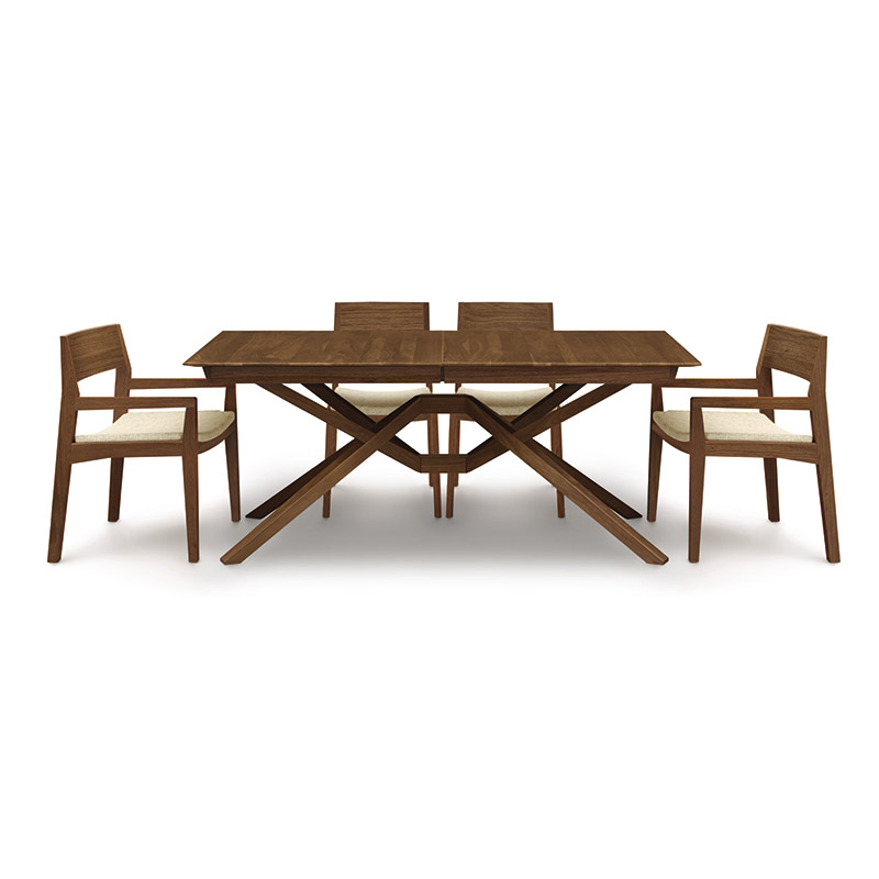 exeter extension dining table natural walnut furniture vt made