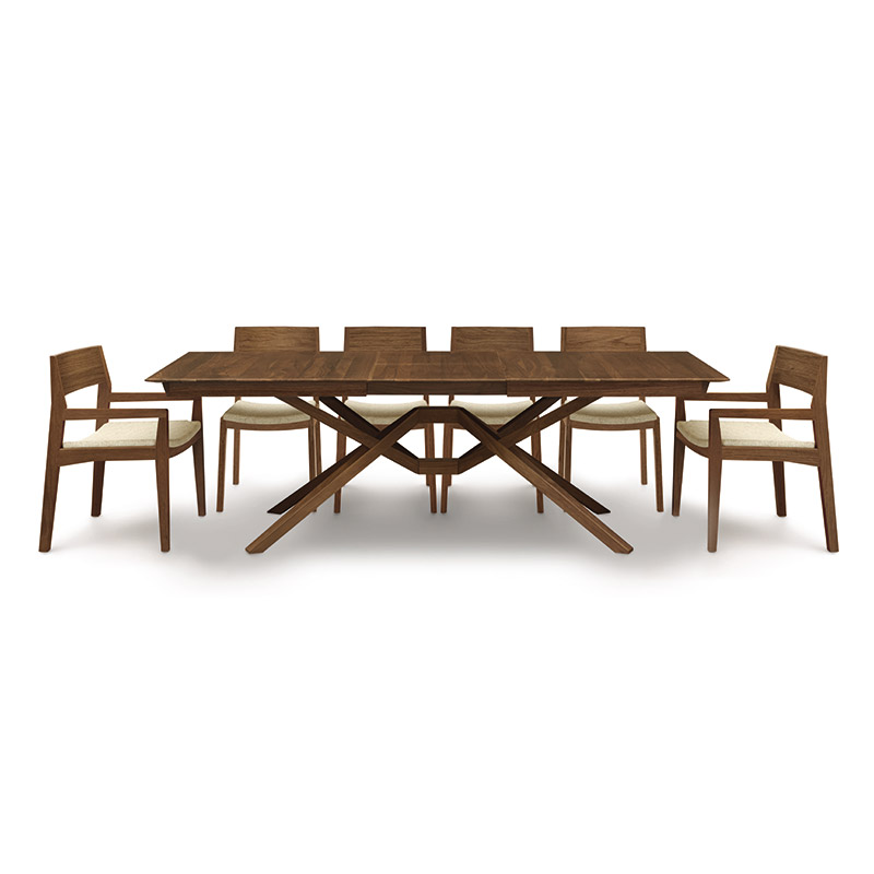 Exeter Walnut Extension Table By Copeland Furniture   Vermont Woods Studios