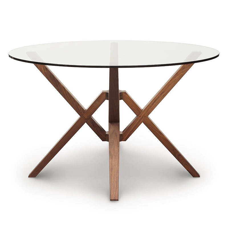 Exeter Round Glass Top Table by Copeland Furniture  : exeter round glass top table01 from vermontwoodsstudios.com size 800 x 800 jpeg 50kB