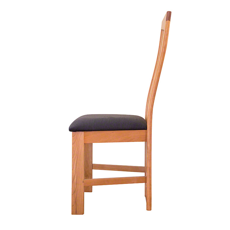 Modern high back dining chairs natural cherry handmade in vermont