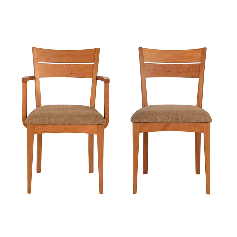 Lowell Dining Kitchen Chair Natural Organic Solid Cherry