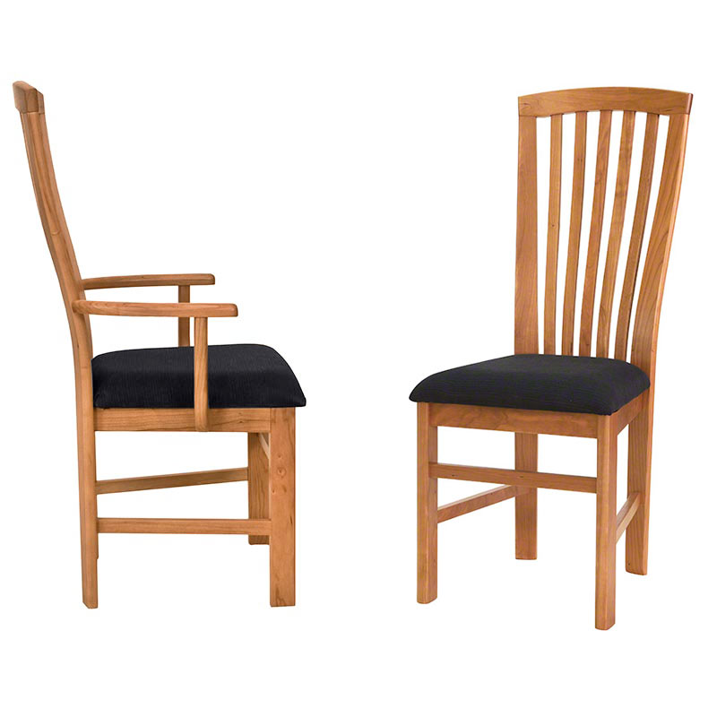in stock mission style dining chairs solid wood