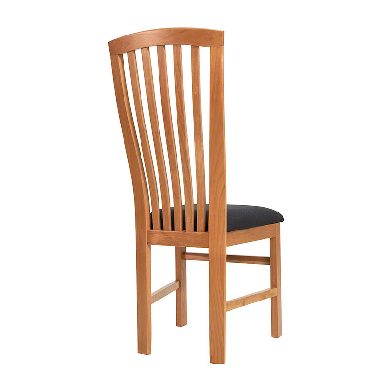 In stock mission style dining chairs solid wood for High back dining room chairs
