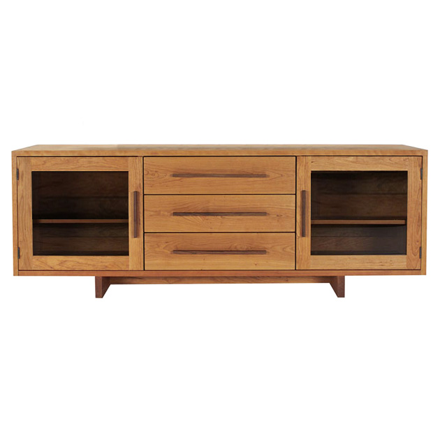 Modern American Buffet Sideboard In Solid Hardwood With Natural