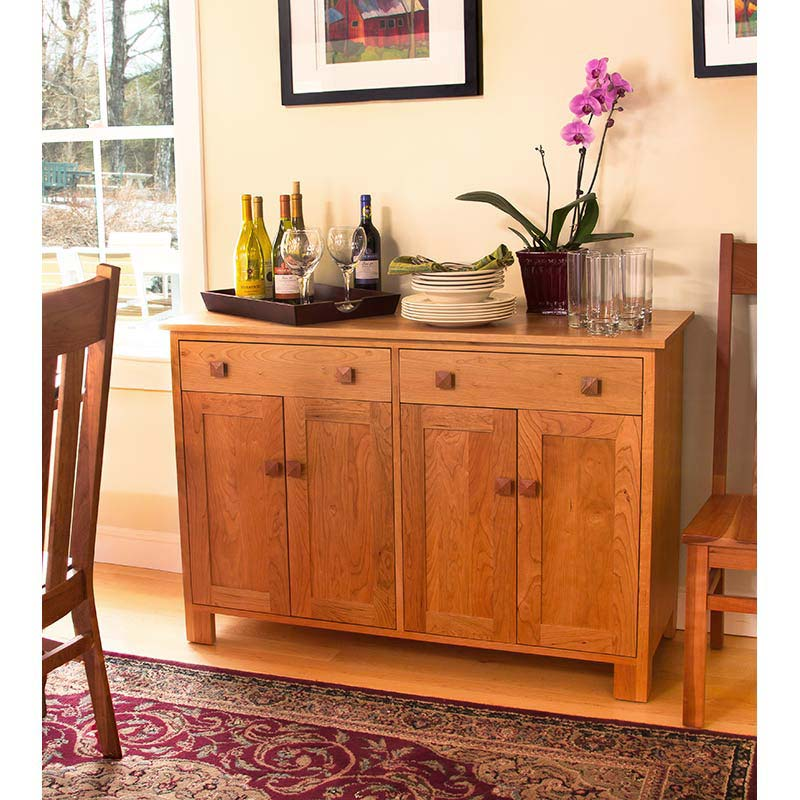 high end handmade modern mission buffet solid wood sideboard made