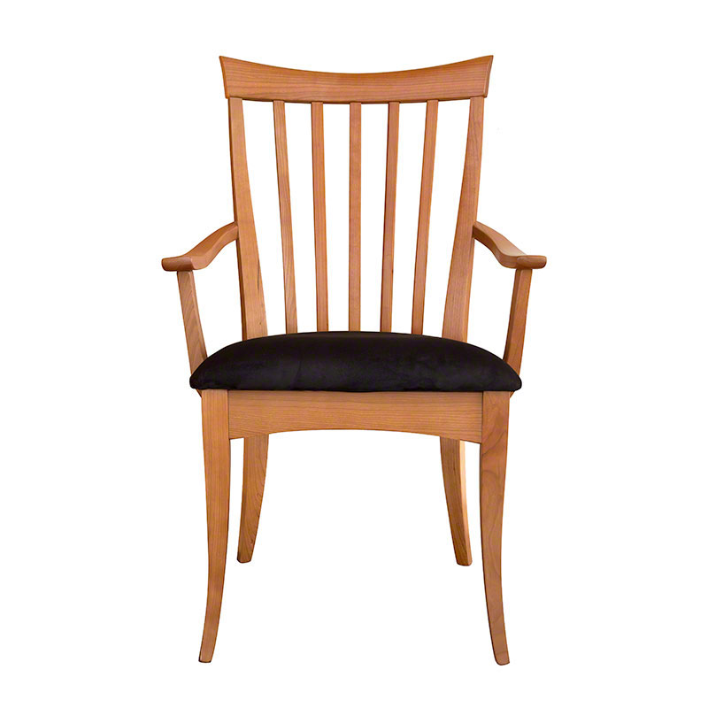 in stock modern shaker dining chair solid cherry