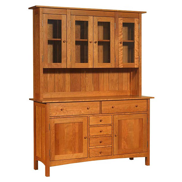 Large Modern Shaker Buffet Hutch Sideboard Made In The Usa Solid Wood And American Luxury