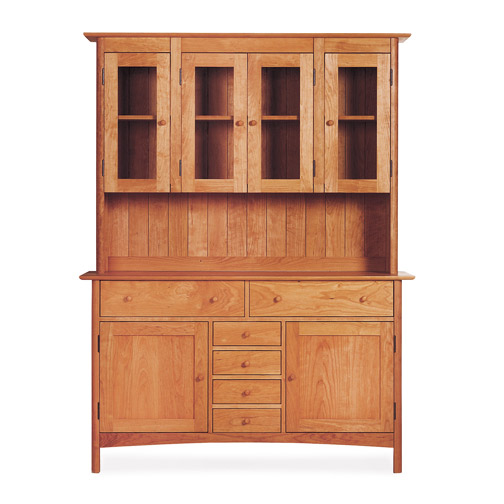 Modern Shaker Large Buffet & Hutch - Large Modern Shaker Large Buffet - Hutch Sideboard Made In The