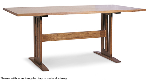 Modern Contemporary Trestle Table Boat Top Handcrafted in