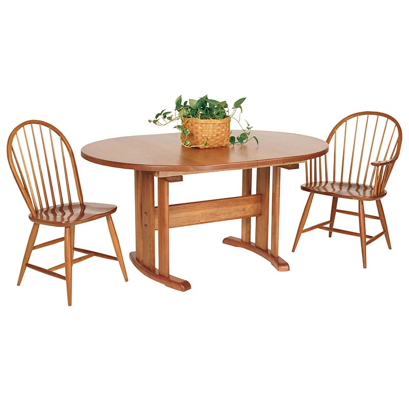 oval trestle table 1 vermont woods studios. Black Bedroom Furniture Sets. Home Design Ideas