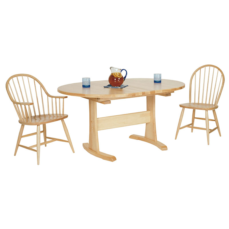 Oval Trestle Table Vermont Woods Studios - Oval trestle dining table