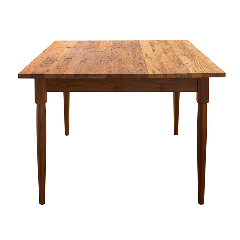Reclaimed barnwood farm dining table hand crafted in vermont - Barnwood dining room table ...