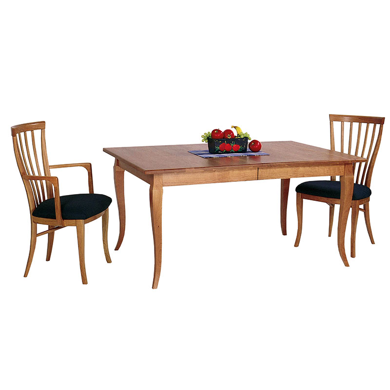 solid wood french country dining table with natural finish made in