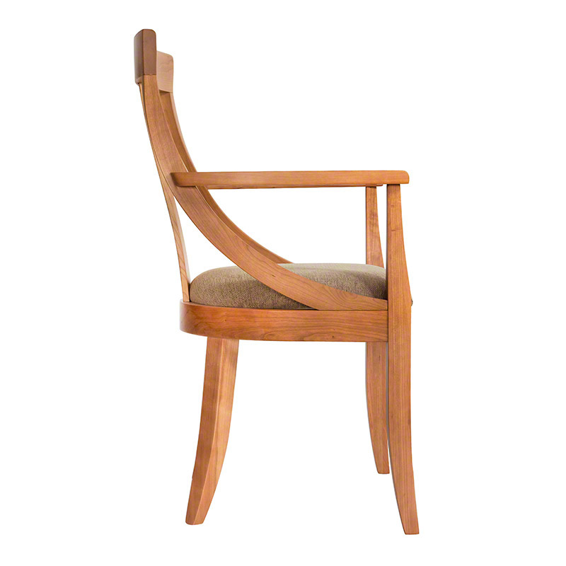 In Stock Round Back Dining Chair Solid Cherry