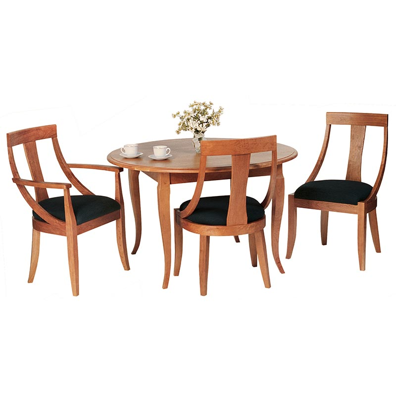 french country round dining table vermont woods studios