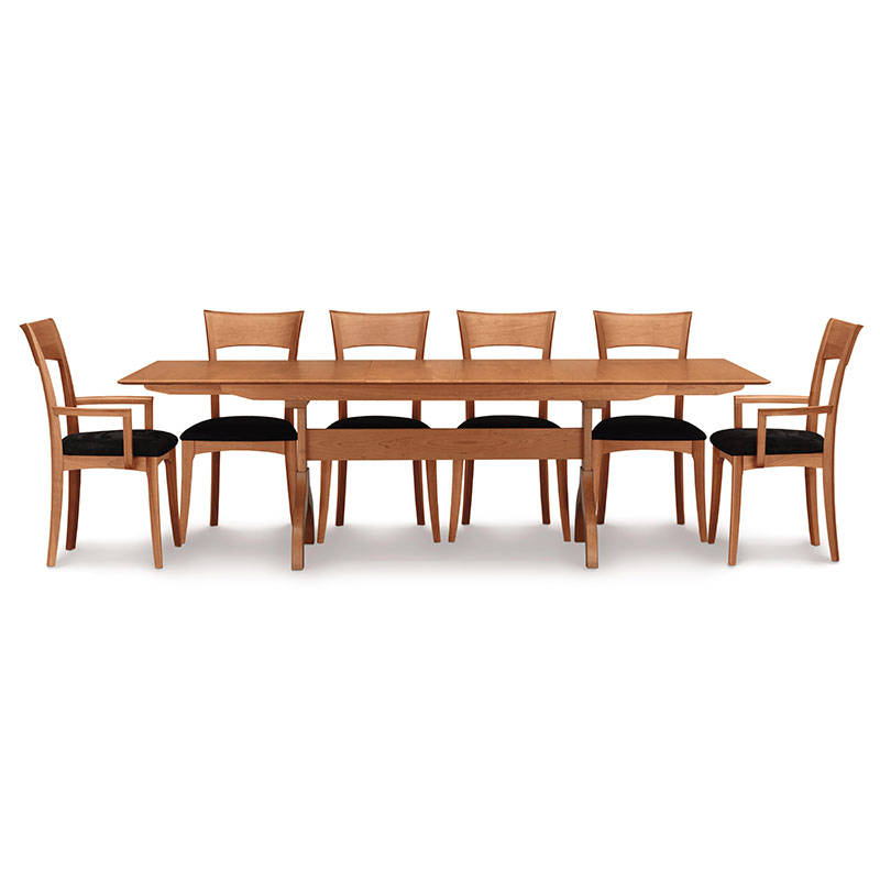 copeland shaker extendable dining table solid cherry wood usa made. Black Bedroom Furniture Sets. Home Design Ideas