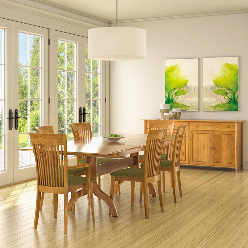 Copeland Shaker Extendable Dining Table Solid Cherry