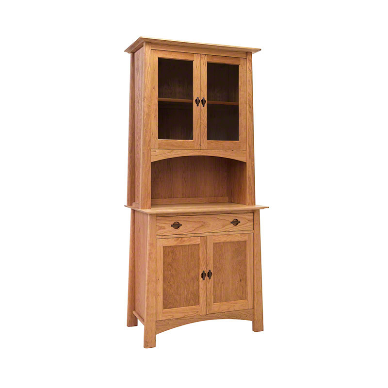 Small Cherry Moon China Cabinet - Sideboard 38 | Handcrafted Hutch and ...