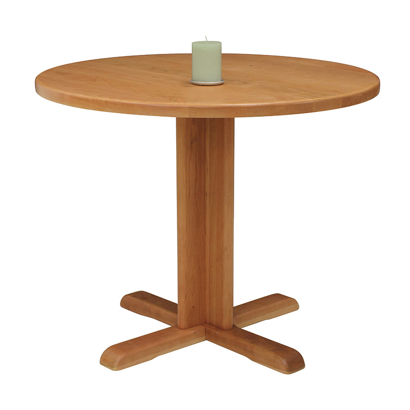 Small pedestal table vermont woods studios for Small pedestal dining table