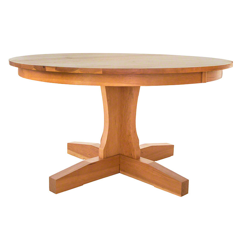 round shaker pedestal dining table handmade in usa with