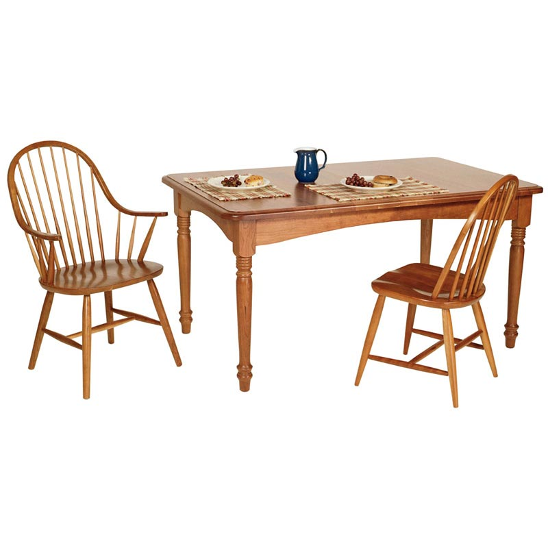 Rectangular Turned Leg Dining Table
