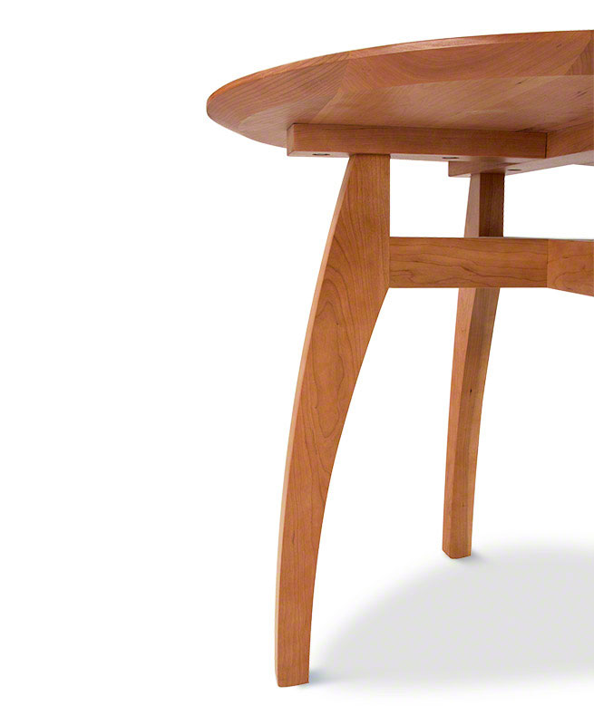 Vermont modern pedestal table round solid wood table american made