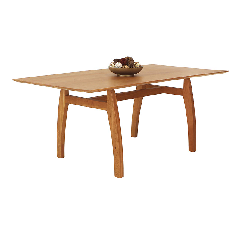 Vermont Modern Trestle Table Solid Wood High End Dining Furniture