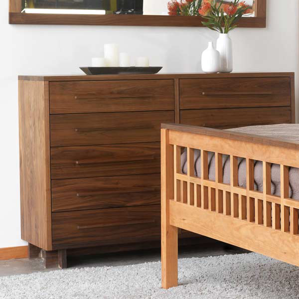 dresser drawers product modern american 10 drawer dresser in solid hardwood with natural