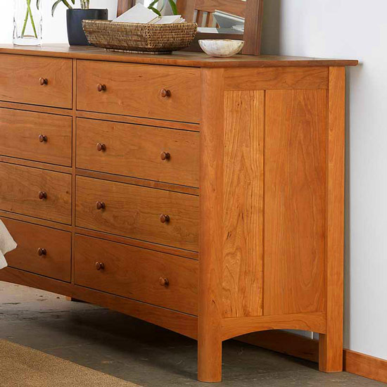 10 Drawer Wide Dresser Solid Wood