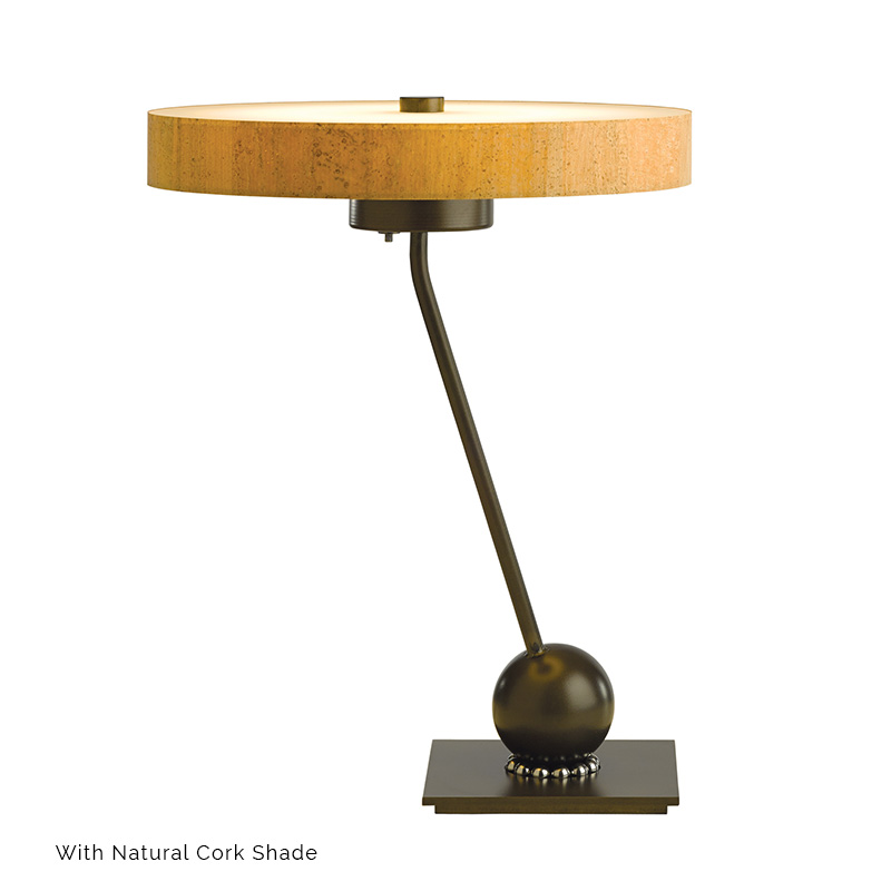 disq table lamp by hubbardton forge 272865 vermont. Black Bedroom Furniture Sets. Home Design Ideas