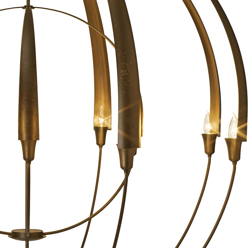 Hubbardton Forge Double Cirque Large: Large Double Cirque Chandelier By Hubbardton Forge