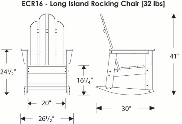 Recycled Plastic Adirondack Rocker Polywood Recycled