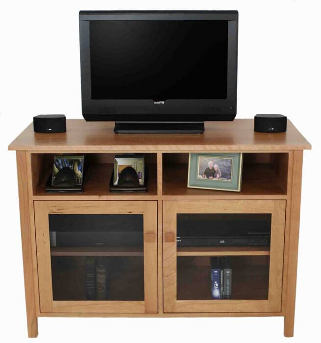 Small Mission Style Tv Stand Vermont Made Solid Wood Media Consoles