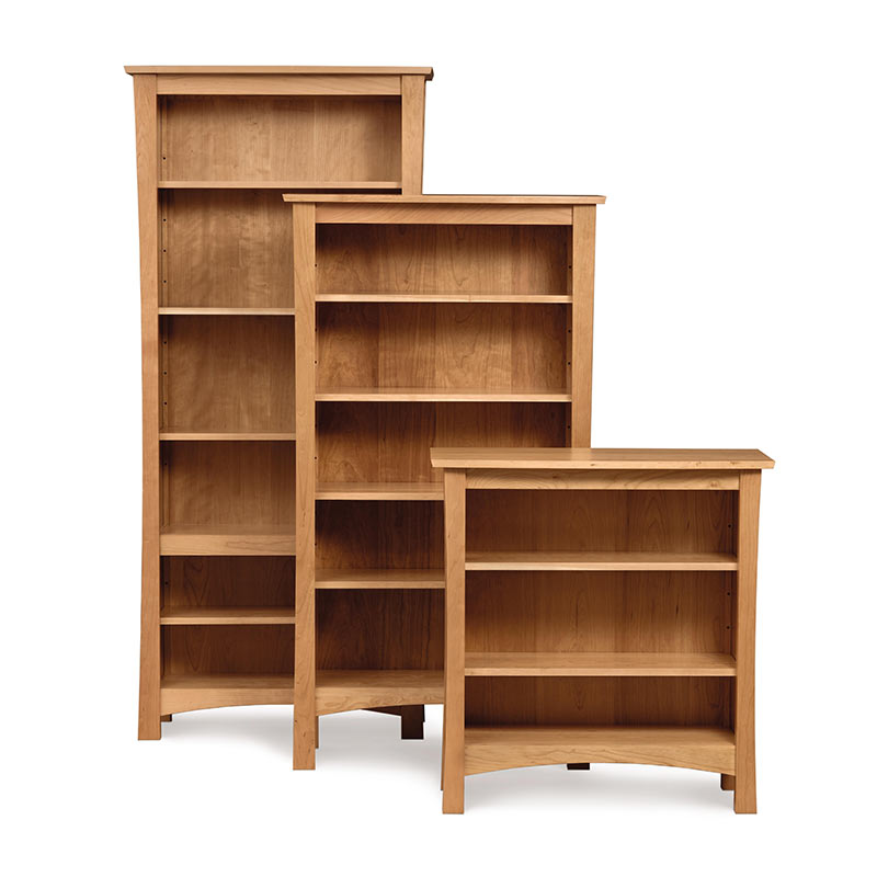 Berkeley Cherry Wood Bookcases | US Made Wood Home Office Furniture ...