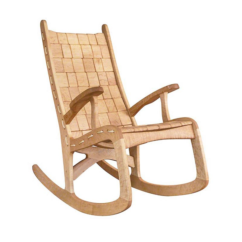 Remarkable Custom Quilted Vermont Rocking Chair Birdseye Maple Pabps2019 Chair Design Images Pabps2019Com