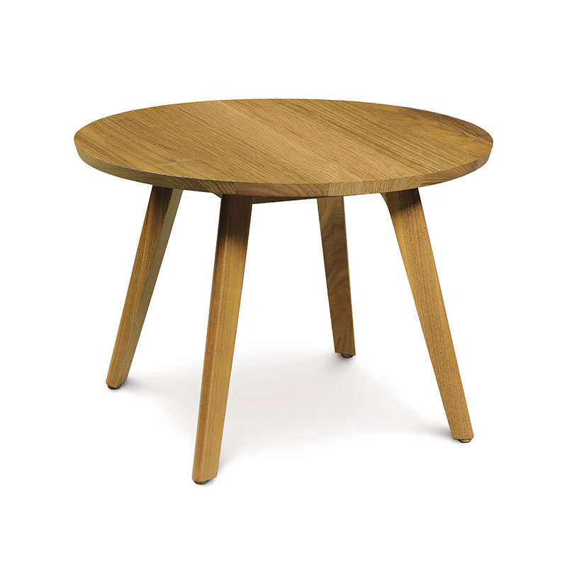 Catalina Oak Round Side Table