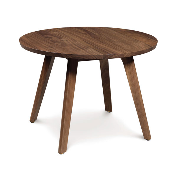 Catalina Walnut Round Side Table