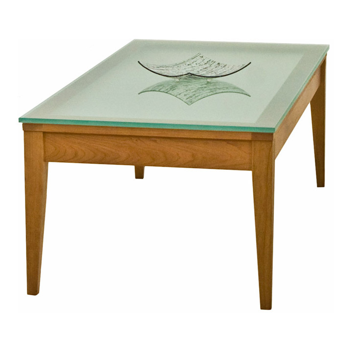 Classic Shaker Glass Top Coffee Table